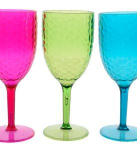 Bicchieri calice in vetro colorati
