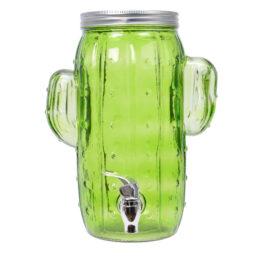 Dispenser bevande a forma di cactus con rubinetto