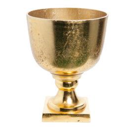 Coppa in metallo oro per addobbi e allestimenti esterni ed interni